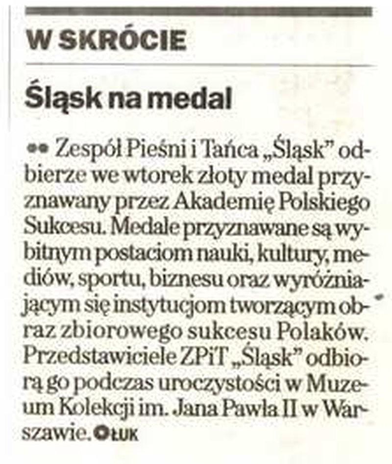 Śląsk na medal - Gazeta Wyborcza