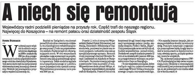 A niech się remontują - Gazeta Wyborcza