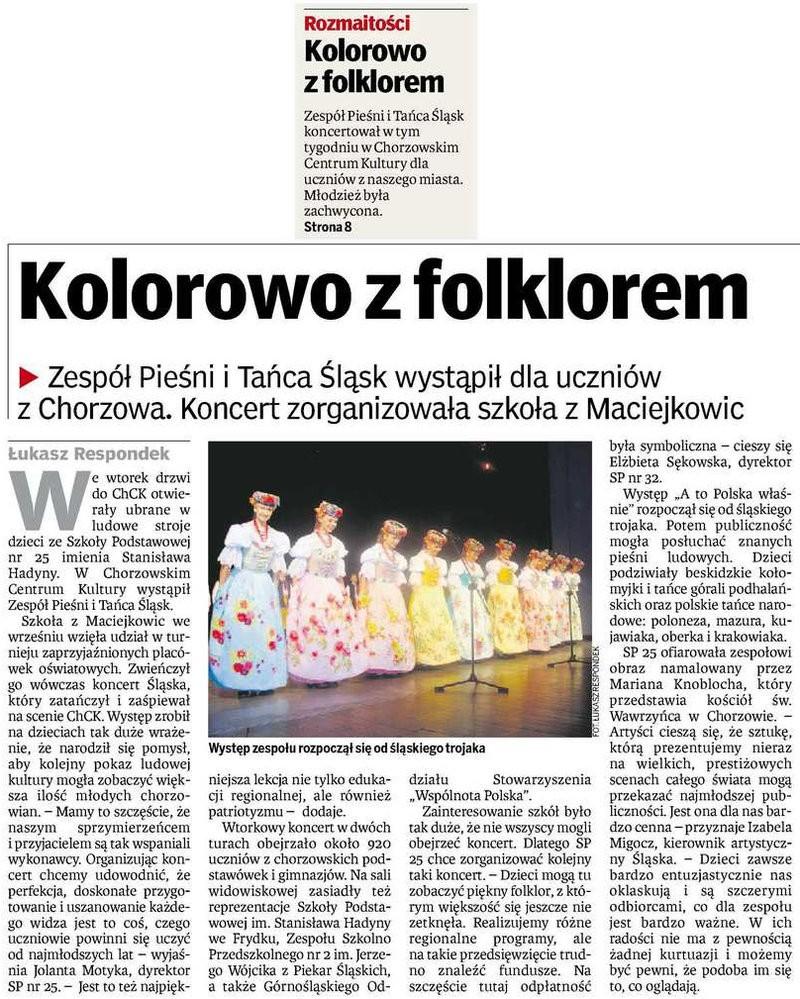 Kolorowo z folklorem - Dziennik Zachodni